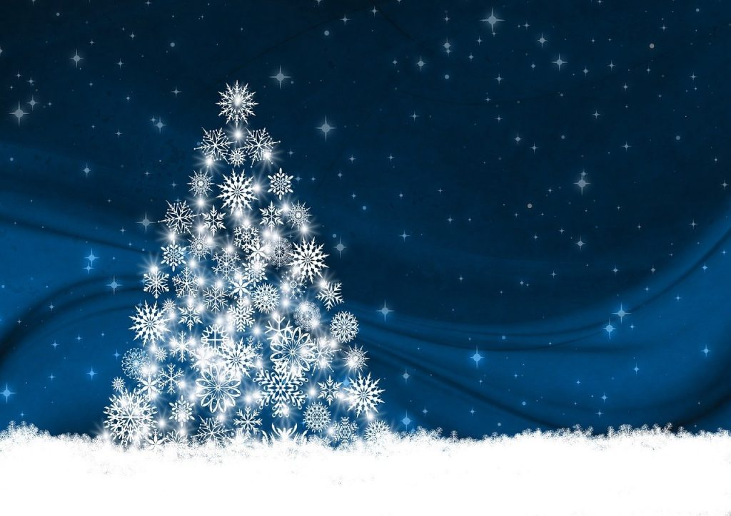 greeting card, christmas tree, background